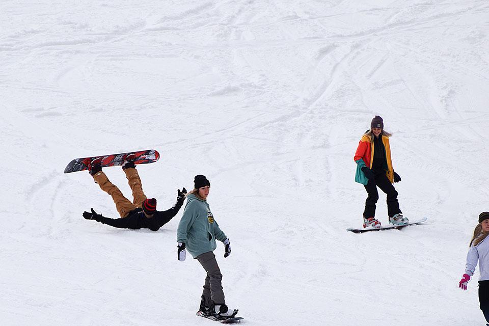 Snow board at Ober Gatlinburg