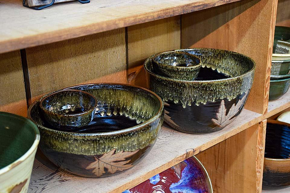 Pottery that is handmade in the Smokies.