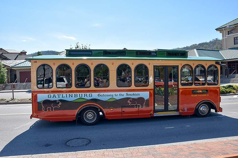 Ride the trolley around Gatlinburg