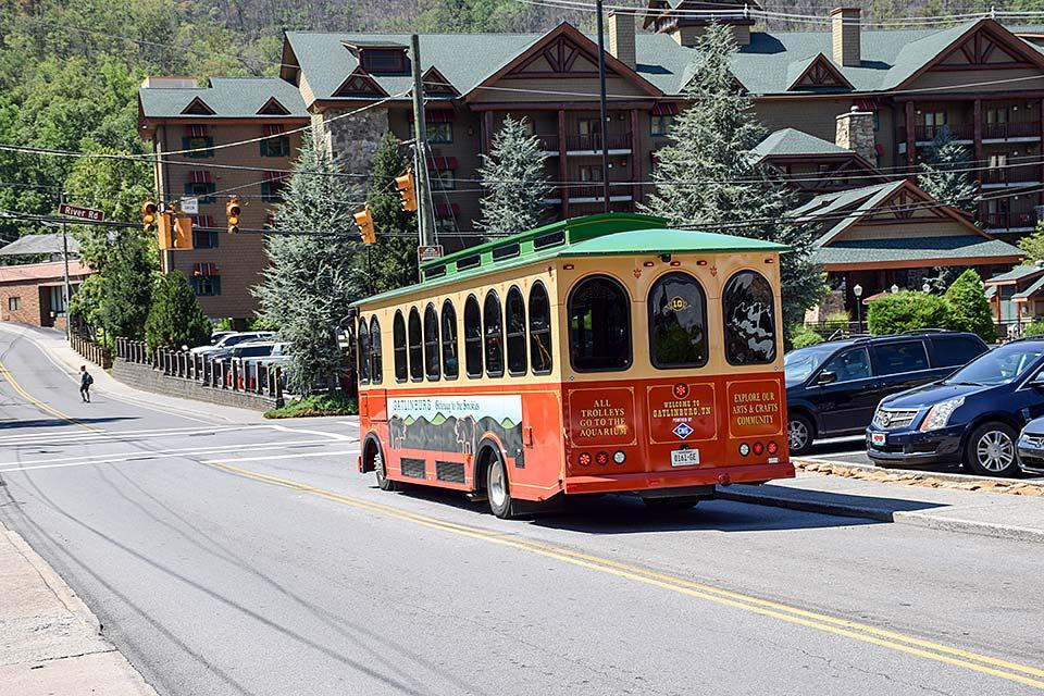 Ride the trolley and save money in Gatlinburg.