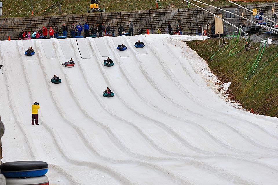 Snow tubing at Ober