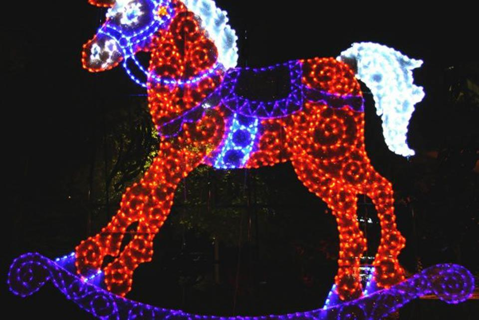 Winterfest lights in Gatlinburg, Tennessee