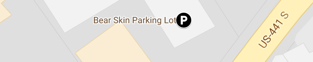 Map of Bear Skin parking location