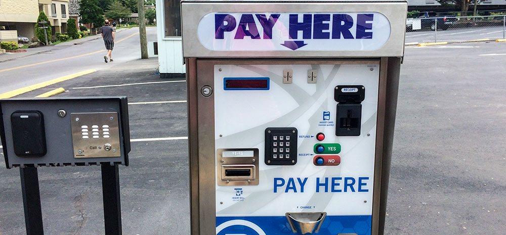 Paying to park in Gatlinburg