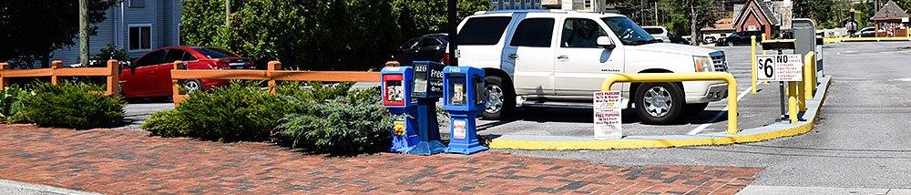 Reagan Drive Parking Lot in Gatlinburg